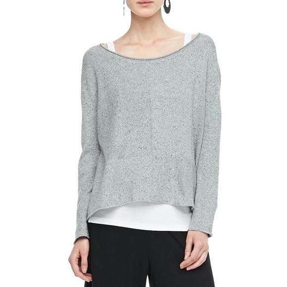Eileen Fisher Speckled Box Knit Sweater Top